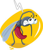 Scared Mosquito Insect Vector Cartoon Royalty Free Stock Photography