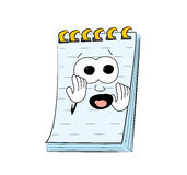 Scared notes cartoon Royalty Free Stock Photography