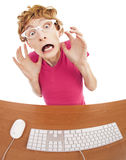 Scared office worker Stock Images