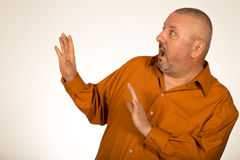 Scared overweight businessman Royalty Free Stock Photo