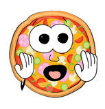 Scared Pizza cartoon Royalty Free Stock Photography