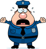Scared Police Royalty Free Stock Image
