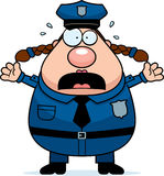 Scared Police Woman Stock Photography