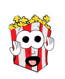 Scared Pop corn cartoon Royalty Free Stock Images