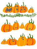 Scared pumpkins Royalty Free Stock Photo