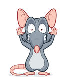 Scared rat. Vector clipart picture of a scared rat Royalty Free Stock Photos