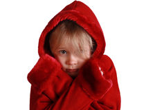 Scared red riding hood Royalty Free Stock Images