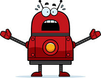 Scared Red Robot Royalty Free Stock Photography