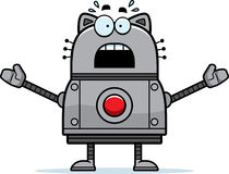 Scared Robot Cat Royalty Free Stock Images