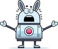 Scared Robot Rabbit Stock Photo