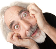 Scared Senior Male Stock Image