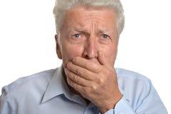 Scared senior man Royalty Free Stock Photography
