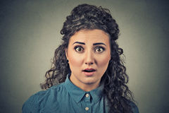 Scared shocked woman Royalty Free Stock Photos