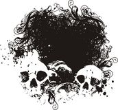 Scared skulls illustrations. Great for backgrounds and illustrations Stock Photo