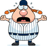 Scared Softball Player Royalty Free Stock Photo