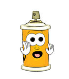 Scared spray can cartoon Royalty Free Stock Photography
