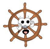 Scared steering wheel illustration Royalty Free Stock Image