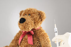 Scared teddy bear Royalty Free Stock Photo