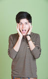 Scared Teen Royalty Free Stock Photography