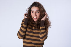 Scared teenager Royalty Free Stock Photos