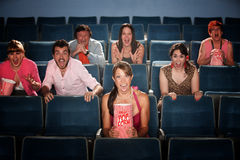 Scared in Theater Royalty Free Stock Images