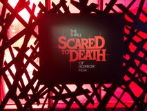 Scared To Death sign at MoPOP in Seattle. Scared To Death: The Thrill of Horror Film exhibit sign at Museum of Pop Culture MoPOP in Seattle royalty free stock photo