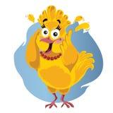 Scared Turkey Funny Vector Cartoon - Illustration of Thanksgiving bird in panic royalty free illustration