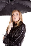 Scared umbrella Stock Photography