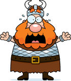 Scared Viking. A cartoon viking with a scared expression vector illustration
