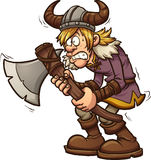 Scared viking. Scared cartoon viking. Vector clip art illustration with simple gradients. All in a single layer vector illustration