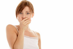 Scared woman Royalty Free Stock Photography
