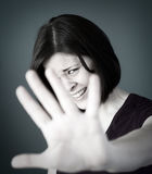 Scared woman Stock Image
