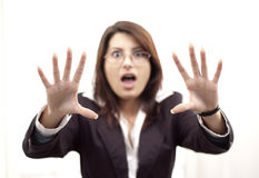 Scared woman Royalty Free Stock Photos