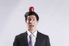 Scared young Businessman Royalty Free Stock Photo