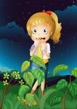 A scared young girl Stock Photos
