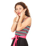 Scared young woman Royalty Free Stock Image