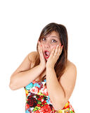 Scared young woman Royalty Free Stock Photo