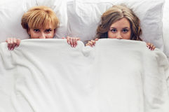 Scared young women Royalty Free Stock Images