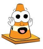 ScaredRoad cone cartoon Royalty Free Stock Photo