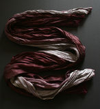 Scarf 1. Red purple white and grey long silk scarf Royalty Free Stock Photography