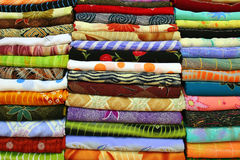 Scarf. T in the market (india Stock Photography