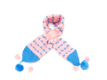 Scarf. Children scarf gloves isolated on a white background in high resolution Stock Image
