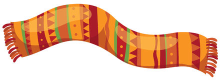 Scarf. Illustration of isolated mexican scarf on white background Stock Photo