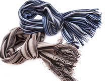 Scarf. Mens striped scarf on a white background Royalty Free Stock Images