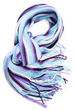 Scarf. Wool scarf isolated on white Royalty Free Stock Images