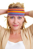 Scarf around the head Royalty Free Stock Photo