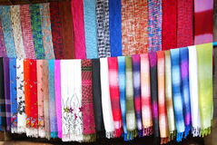 Scarf background Stock Photos