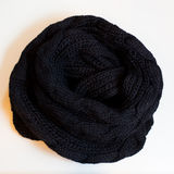 Scarf black clothes Royalty Free Stock Images