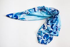 Scarf blue Royalty Free Stock Image