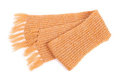 Scarf. Closeup isolated on white Royalty Free Stock Photography